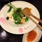 台湾創作キッチン RYU - 「台湾風サラダ」は思ったより普通な食材でチト残念だったかな