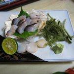 288459 - シャコ貝と貝柱の刺身