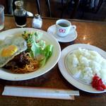 珈琲館もりやま - ハンバーグステーキ(1100円)