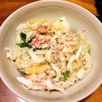 28803925 - 土鍋炊き込みご飯(カニがたっぷり)