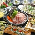 かなえ - 萬幻豚と夏野菜の岩盤焼き