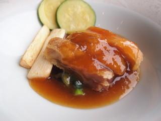 中国料理 カリュウ - 信玄どり煎り焼き ゆずおろし醤油ソース