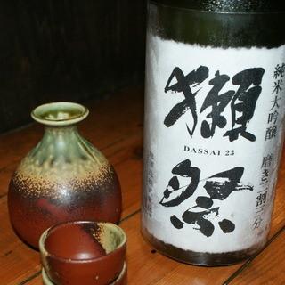 日本酒、焼酎が豊富にそろっています