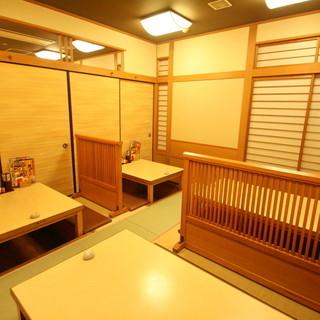 完全個室や宴会スペースも充実しています