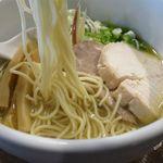 N's cafe RS - あっさりラーメンしおの麺