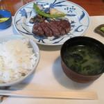 カフェ&鉄板レストラン 藤川 - ステーキランチ¥3100@'14.4.下旬