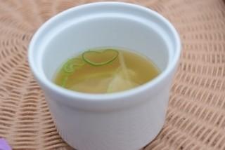 摩波楽茶屋 - ランチのスープ