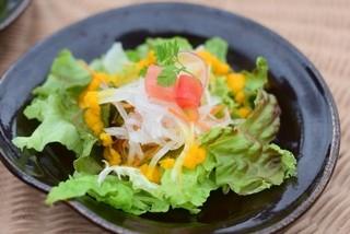 摩波楽茶屋 - ランチのサラダ