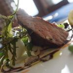 アズーロ - 料理写真:新冠産黒豚の炭火焼