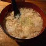 火男 - 牛すじ煮390円
