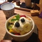 カフェ クマコ - フルーツパフェ