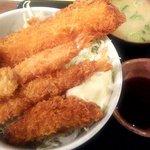 大漁一八 - ミックスフライ丼&味噌汁