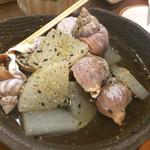 白雪 - 磯つぶ貝と大根の旨煮(¥650)