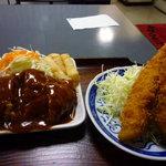 たんぽぽ食堂 - ハンバーグ&エビフライ