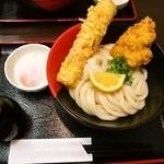 極楽うどん Ah-麺 - 料理写真:竹鶏玉ぶっかけ
