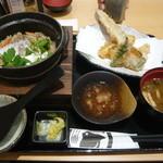 鯛めしちどり - 鯛めし穴子天ぷら御膳