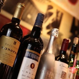80種以上の世界各国のワイン◎