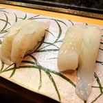 蛇の目寿司 - ヒラメ_432円とイカ_108円