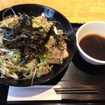 マツノ屋 - ラー油蕎麦650円(^^)大盛り120円