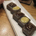 原始焼・二代目・魚々子 - 炙り蒟蒻田楽