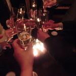 コットンダンサー - スパークリングワインで乾杯