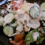 楓林 - ラーメンセットのサラダ