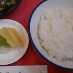 楓林 - ラーメンセットのご飯とお漬物