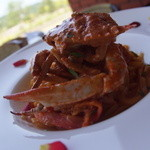 トラトッリア ルッチ - ワタリガニのトマトクリームパスタ