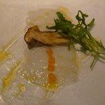 冷前菜:白イカのカルパッチョwithポルチーニ茸(2014.7)