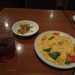 美中味 - サンザシ酒、トマトと玉子の炒め