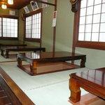 寿楽庵 - 掘りごたつ式の座席