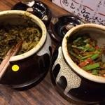 神虎 - 薬味の高菜とニラ