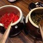 神虎 - 今回は生姜と高菜をラーメンに入れて食べました♫