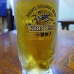 はる - ドリンク写真:ご主人が入れてくれた生ビールは、ほとんど泡なし