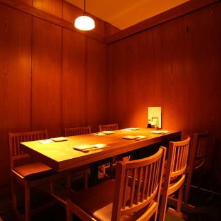 上質な和の個室席。飲み会は勿論、接待や会食に最適です!