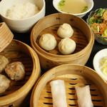 肉汁水餃子 餃包 - 三段せいろ定食(ランチ限定)