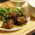 肉汁水餃子 餃包 - 油淋鶏定食(ランチ限定)
