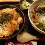 うどん市 - おろし親子唐揚丼セット 880円 (これより2014.07〜)