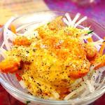カリーマハール - Cランチのサラダ(チリペッパーとブラックペッパーかけました。)