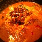 炎麻ばあちゃんの麻婆豆腐 - 胡麻胡麻坦々麺。山椒主体でコクがあり、高評価したい味わい。