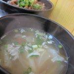 秋葉鶏排 - セットのホットスープ