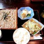 鬼そば - もつ煮セット!(2014,07/05)