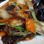 28873035 - 日替りランチ(豚バラ肉と野菜炒め)