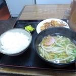 四国うどん - 四国定食(400円)