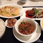 28877541 - A定食 肉団子と蟹肉といろいろ野菜の天厨式オムレツ