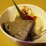 うどんの庄 住吉 - 黒ゴマの豆乳プリン