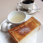 喫茶室ルノアール - モーニングAセットとビターブレンドで587円でした。