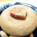 28879922 - 鉢肴 石焼神戸牛 ピーマンと赤パプリカ 胡麻ダレ