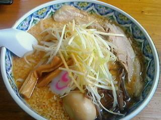 ちゃあみい - 豚骨味噌ネギらーめん・太麺900円(平成26年6月)
