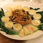 聘珍樓 - 三昧北海蟹 活タラバ蟹の三種味わい